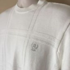 IZOD Windowpane Weave Crewneck Sweater